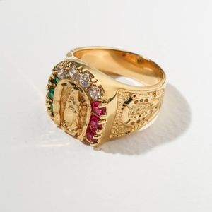 New Vanessa Mooney Mother Mary Horseshoe Ring
